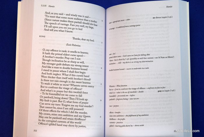 Arden Shakespeare Performance Edition sample interior spread showing ample white space for notes