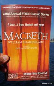 Macbeth program cover