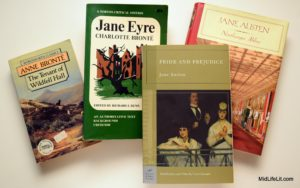 Books by Austen and the Bronte sisters