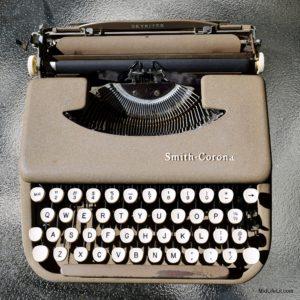 Smith-Corona Skyriter typewriter, top view