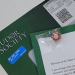 Tudor Society letter and pin
