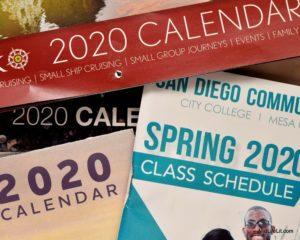 Image of random 2020 calendars