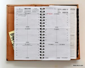 Planner refillable interior