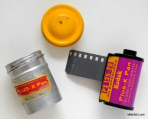 Kodak Plus-X Pan film with canister