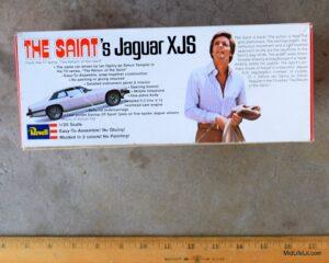 The Saint's Jaguar XJS model car kit by Revell, side of box
