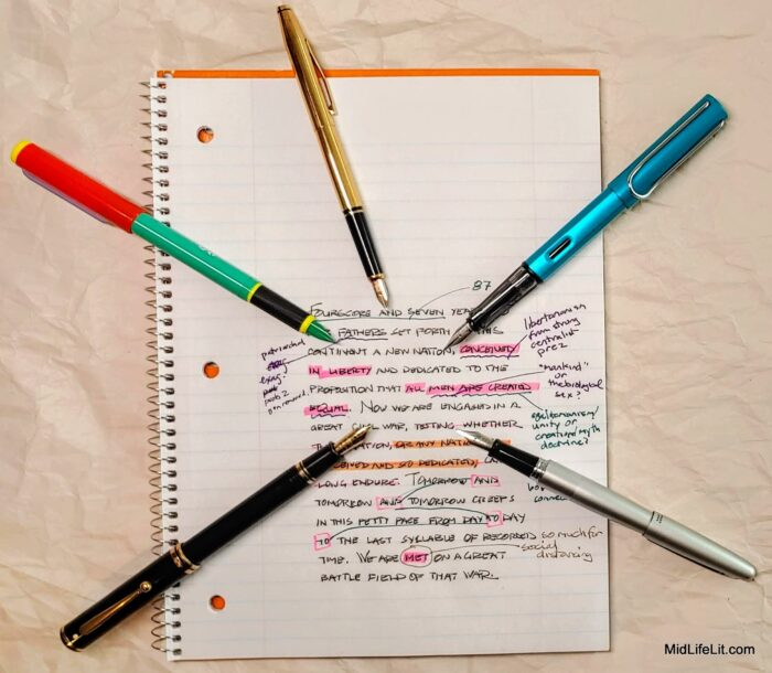 fountain pens and notebook